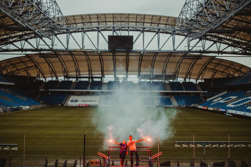 sesja na stadionie Lech Poznań