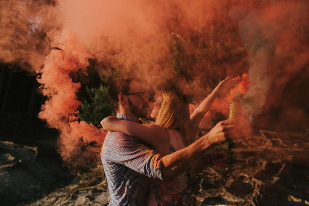 sesja kolorowe dymy