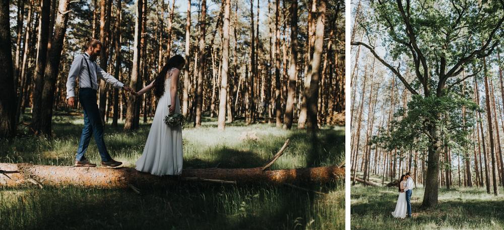 sesja w lesie